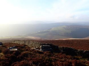 A view of the Derwent Valley from Derwent Edge.