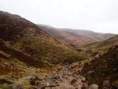 Looking down Grindsbrook Clough.