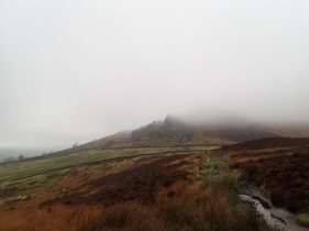 The Roaches enveloped in cloud.