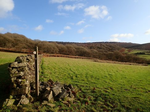 A fantastic view of Stanage Edge from near Green's House, north of Hathersage.